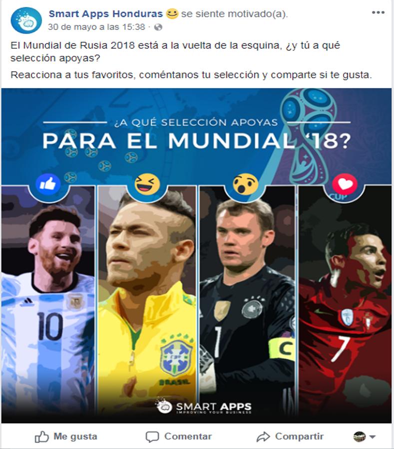 Qué publicar en redes sociales durante el Mundial