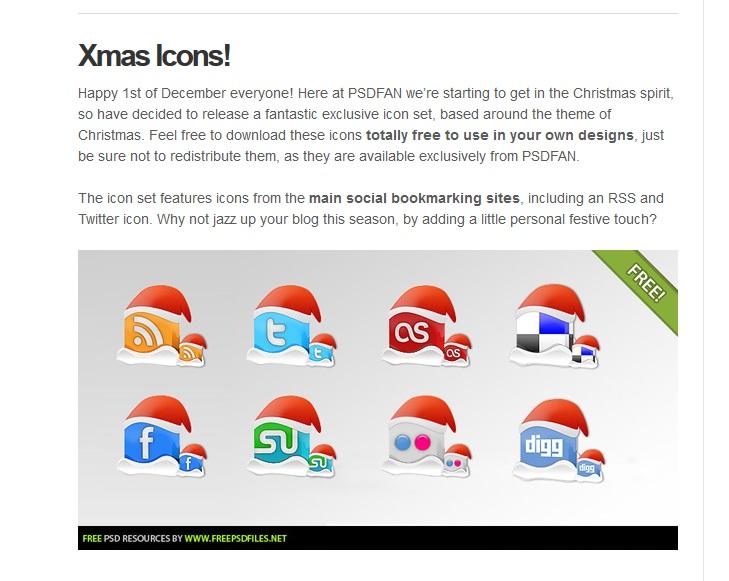 Iconos navideños redes